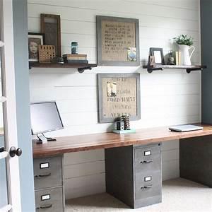Doppel Schreibtisch Ikea : diesen schreibtisch kannst du super einfach selbst zusammenstellen einfach mit zwei ikea ~ Markanthonyermac.com Haus und Dekorationen