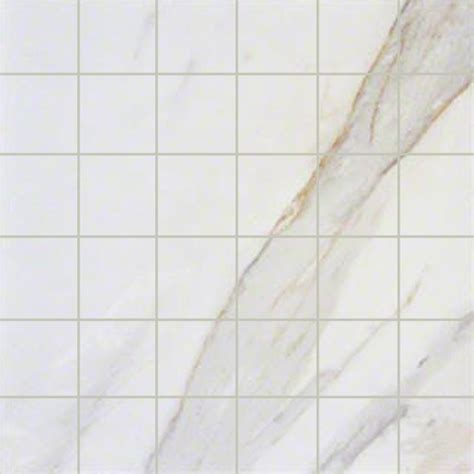 pietra calacatta 2 in x 2 in ivory porcelain mosaic tile