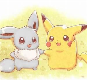 Pikachu And Eevee Cute | www.imgkid.com - The Image Kid ...