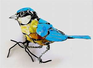 wire recycled metal animal sculptures by barbara franc With birds made from recycled metal scraps by barbara franc