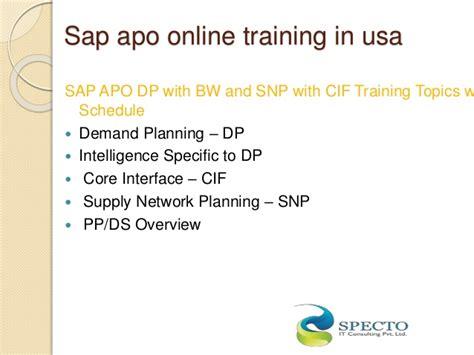 Sap Apo Online Training,sap Apo Training In Usa,uk