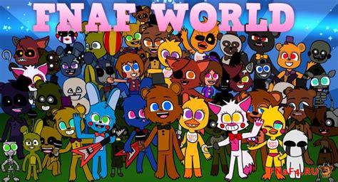 Fnaf World как открыть все чипы, как получить всех персонажей