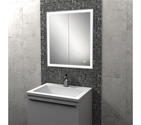 Recessed Bathroom Mirror Cabinet by Hib Vanquish Led Demisting Recessed Mirror Cabinet 630 X