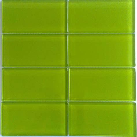 green tile bright green glass subway tile in lemongrass modwalls lush 3x6 tile modwalls tile
