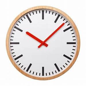 Horloge Murale Bois : kelleur horloge murale en bois naturel habitat ~ Teatrodelosmanantiales.com Idées de Décoration