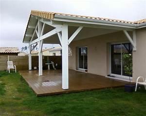 auvent terrasse ma terrasse With construire auvent de terrasse en bois