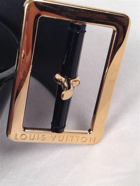 louis vuitton black patent leather belt  sale  stdibs