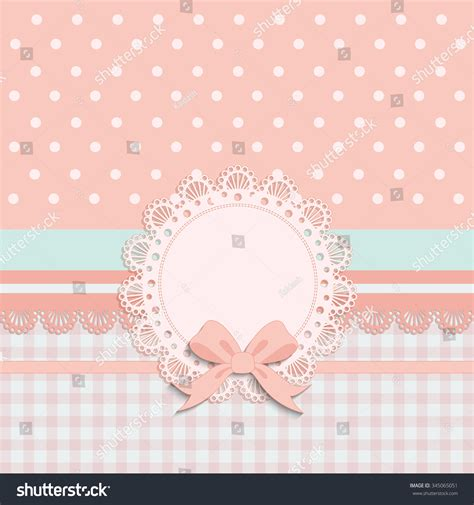 Baptism Invitation Template Pink Brown Cream Stock
