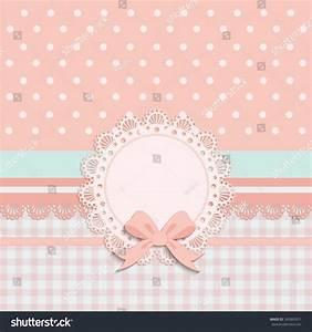 Baptism Invitation Template Pink Brown Cream Stock ...