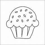 Draw Muffin Step sketch template