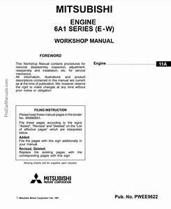 Mitsubishi 6a1 Engine Service Manual Repair