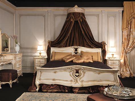 letto a baldacchino bianco da letto in stile luigi xvi letto in legno