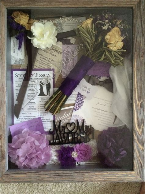 shadow box for wedding mementos i included my bouquet