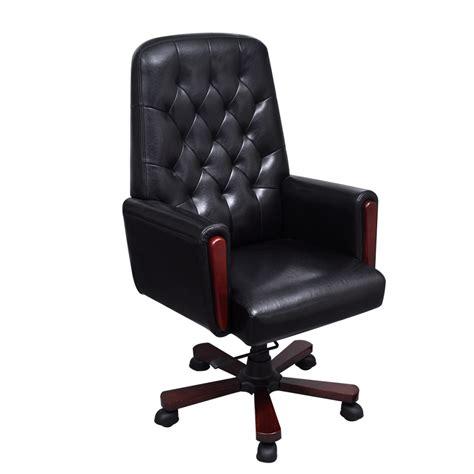 la boutique en ligne fauteuil de bureau chesterfield noir en cuir artificiel vidaxl fr