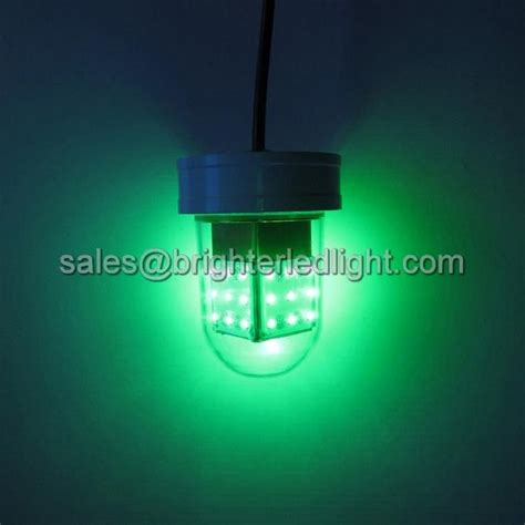 homemade underwater fishing lights 12v deep drop underwater green glowing led fishing light