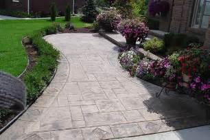 Concrete Front Walkway Ideas