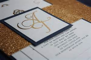 foil wedding invitations navy blue gold foil glitter wedding invite pocadot invitations