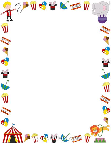 circus border clip art page border  vector graphics