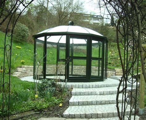 Gartenpavillon Rund Glas gartenpavillon glas rund drehbar gartenpavillon rund 4m