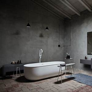 Baignoire Avec Pied : baignoire sur pied en solid surface mat avec d versoir ~ Edinachiropracticcenter.com Idées de Décoration