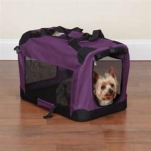 Dog travel crate lightweight soft sided guardian gear for Soft sided collapsible dog crates