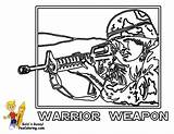 Coloring Army Soldier Pages Boys Military Rifle M16 Printables Yescoloring Air Force Brawny sketch template