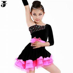 latin dance dress children rose yellow kids latin With robe noire enfant