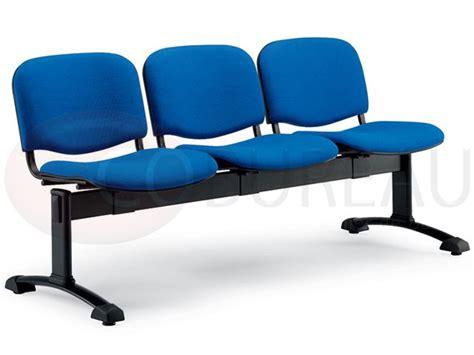 siege accueil siège accueil poutre 3 places smart tissu