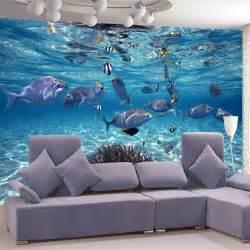 livingroom world sea world underwater murals murales large marine fish for children 39 s bedroom living room 3d