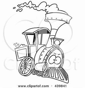 Royalty-Free (RF) Clip Art Illustration of a Cartoon Train ...