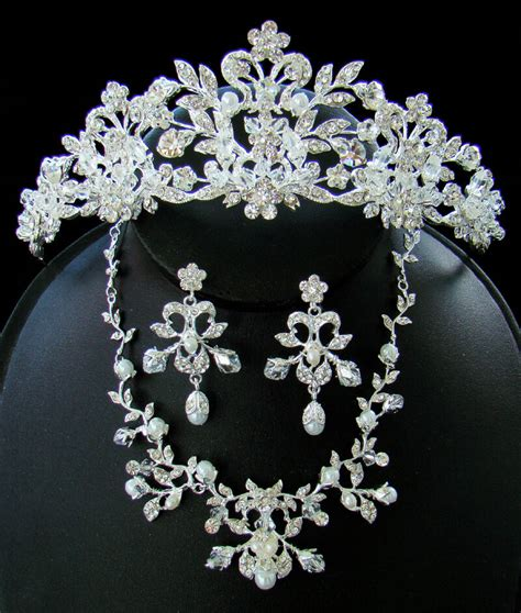 Wedding Jewelry by Stunning Silver Couture Wedding Bridal Tiara