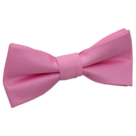 Light Pink Bow Tie by Light Pink Solid Check Pre Bow Tie For Boys
