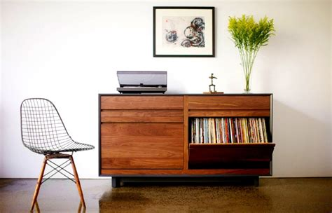 Mid Century Cabinet Diy by Spin That Vinyl Modern Record Player Setups