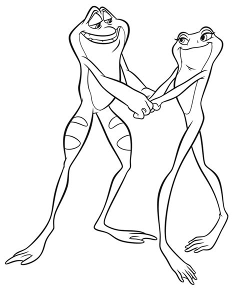 princess and the frog coloring pages frog prince coloring pages coloring home