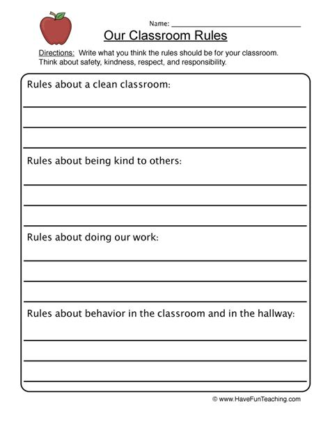 Worksheets For Teaching Responsibility  Kidz Activities