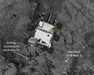 Space Images | Position of Curiosity for Drilling at ...