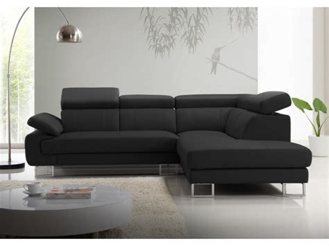 canap駸 d angle design canape d angle cuir noir maison d co salon canap canape d 39 angle vivalto cuir