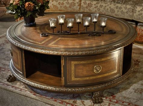 The Round Coffee Tables With Storage