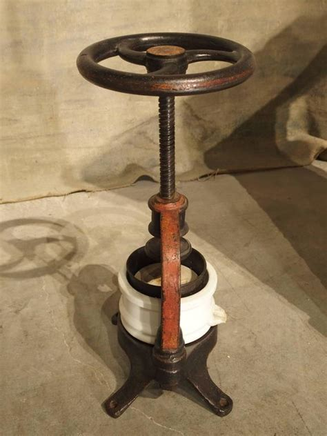 Antique French Fruit or Wine Grape Press, circa 1910 at