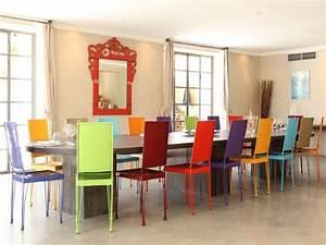 chaises salle a manger couleur le monde de lea With meuble salle À manger avec chaise de couleur