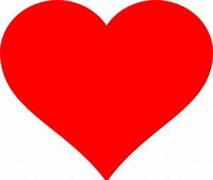 Red Heart 2 Clip Art at Clker.com - vector clip art online ...
