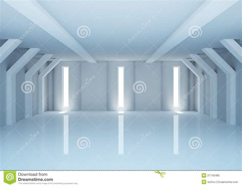 empty wide room  futuristic columns royalty  stock