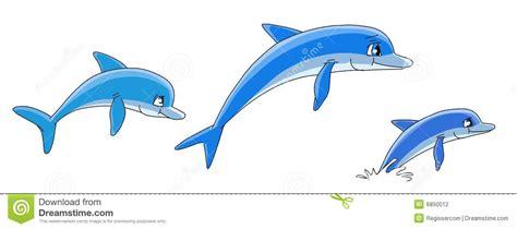 Cartoon Dolphins Stock Illustration. Illustration Of Swim