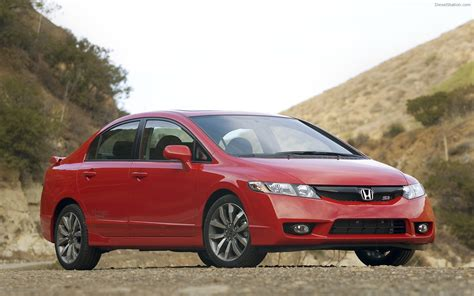cars honda civic si 2009 honda civic si sedan widescreen exotic car wallpaper
