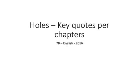 holes key quotes all chapters