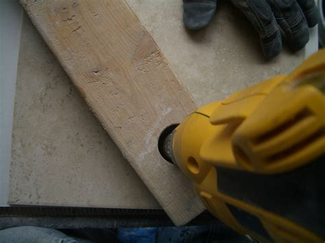 how to drill through tile drilling through concrete