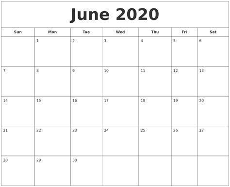 june  printable calendar