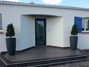 Porte Interieur Grise : porte d 39 entr e vitr e grise aizenay tryba ~ Mglfilm.com Idées de Décoration
