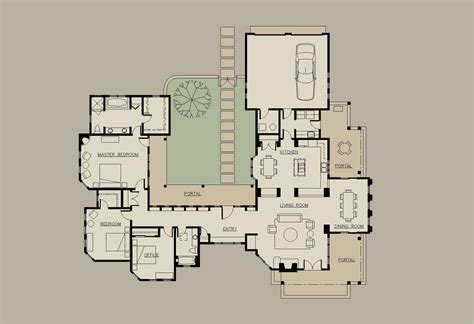 bedroom courtyard mediterranean house plans   middle  mexican style luxury  story