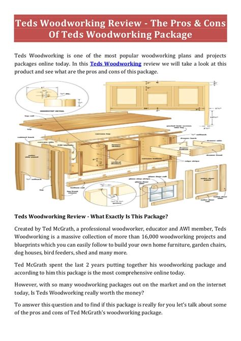 teds woodworking  woodworking plans save time money